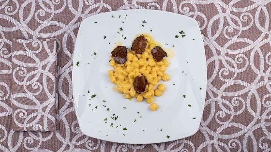 gnocchi con gorgonzola e tartufo
